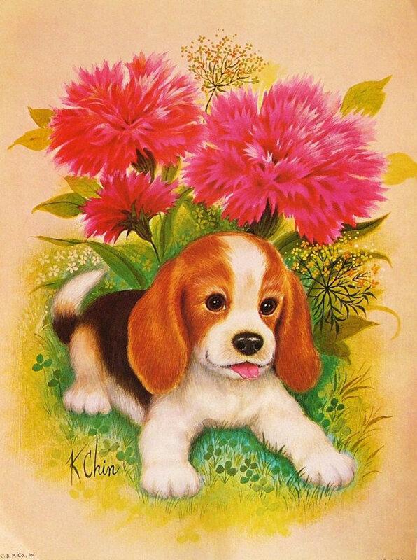 Открытки с рисунком собаки