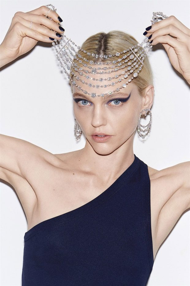 Sasha Pivovarova Models Messika SS18 High Jewelry Collection