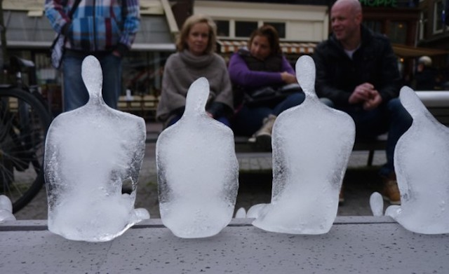 Army of Melting Ice Sculptures