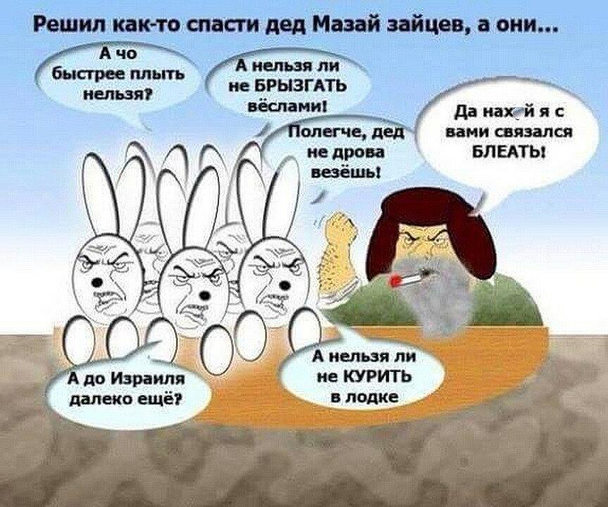 Решил как то дед Мазай спасти зайцев