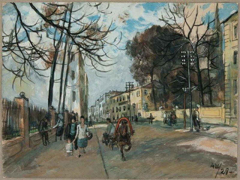 Московский переулок с лошадкой