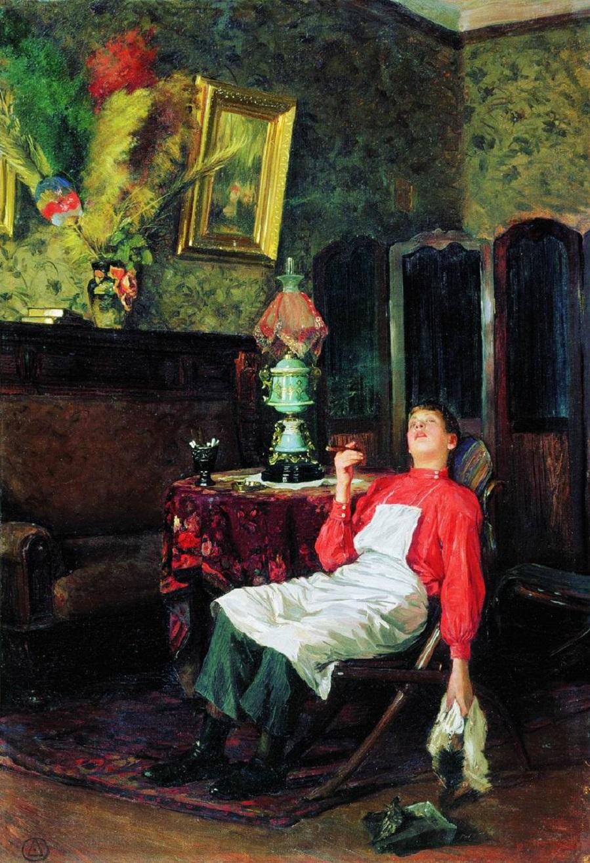Без хозяина. 1911  Ярославский художественный музей.