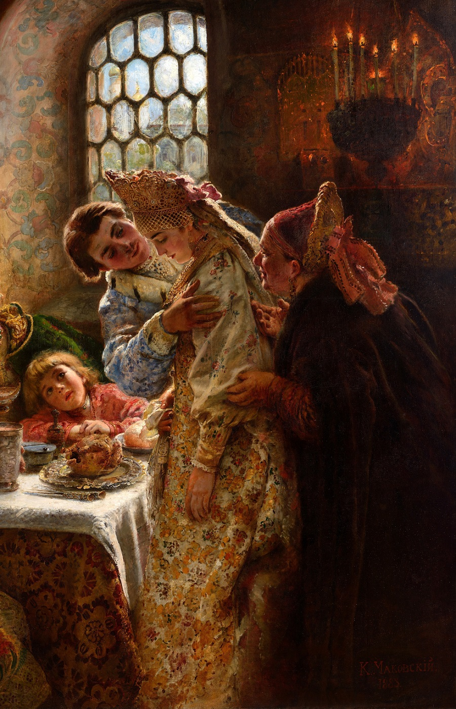 Боярский свадебный пир в XVII веке. 1883.