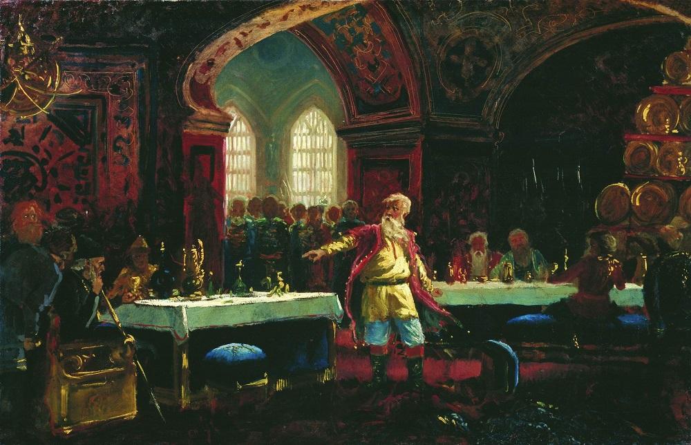 Князь Репин на пиру у Ивана Грозного. 1880-е  Иркутский областной художественный музей им. В.П.Сукачева