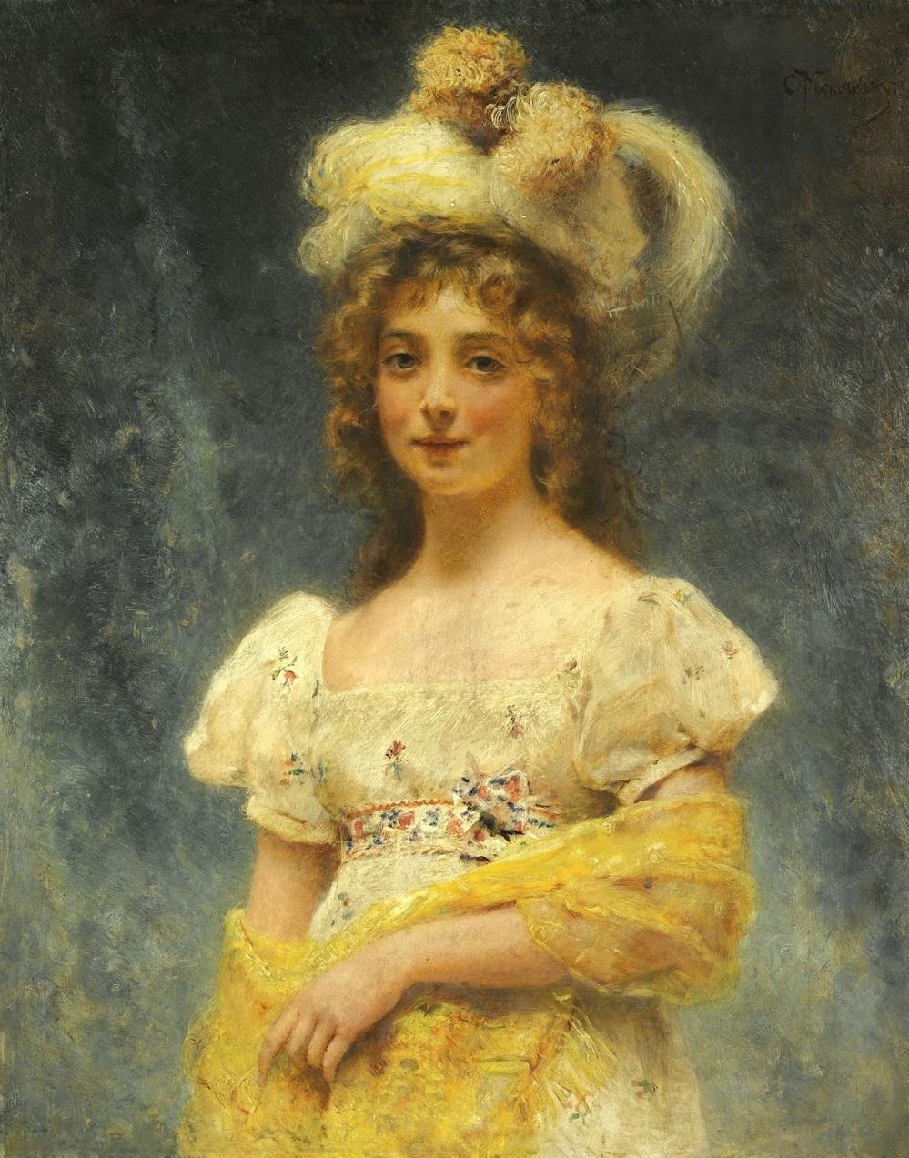 Молоая женщина с желтой шалью Частное собрание.