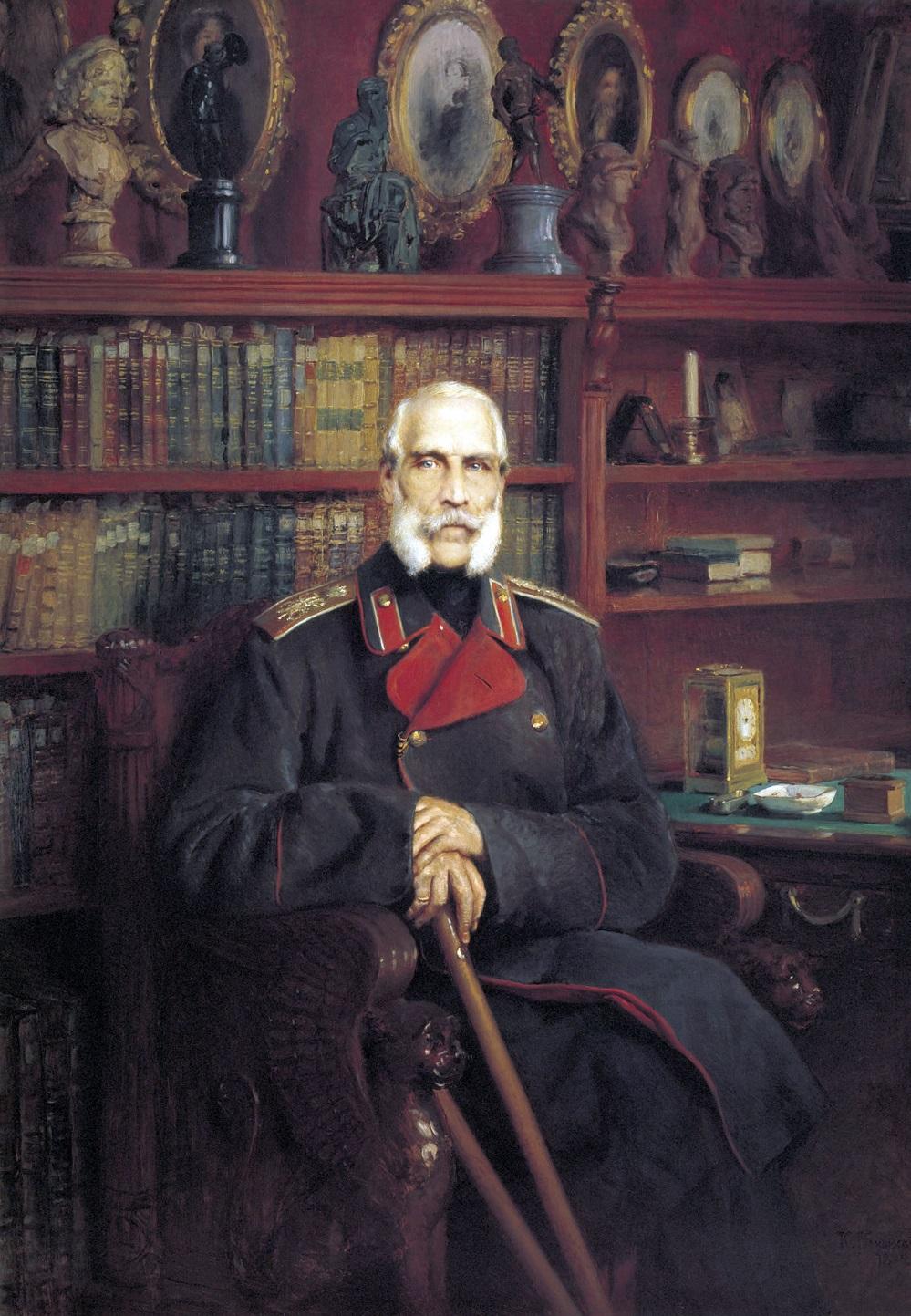 Портрет графа Сергея Григорьевича Строганова. 1882 Государственный Русский музей, С.-Петербург.