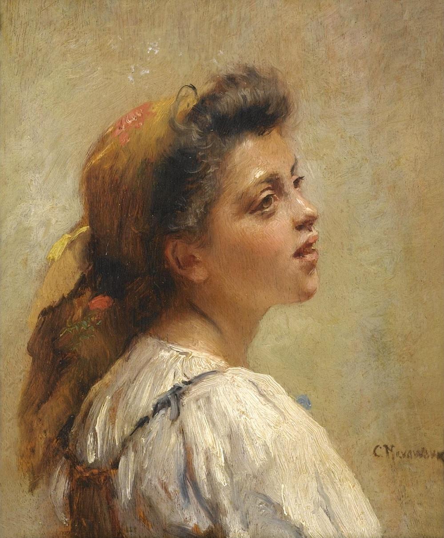 Портрет девушки в красном платке Частное собрание.