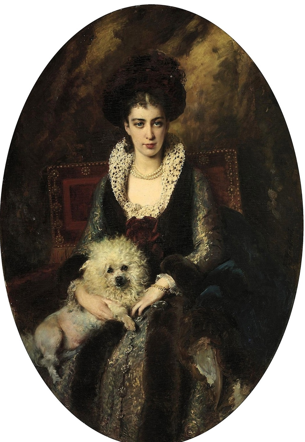 Портрет жены художника, Маковской Марии Алексеевны (1869-1919) Частное собрание.