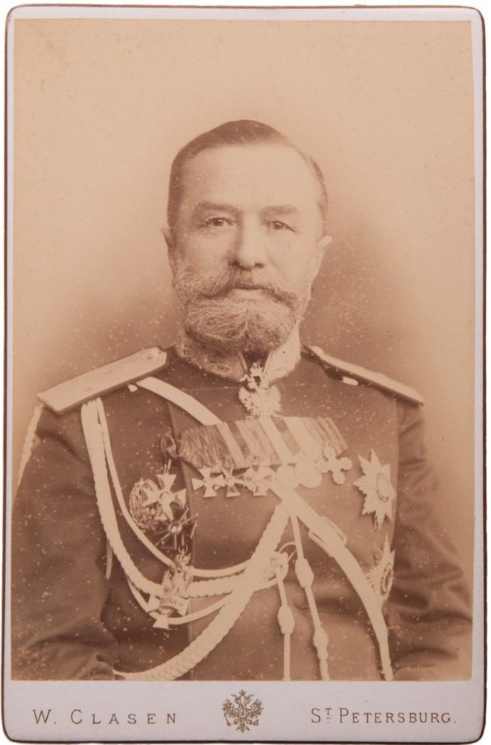 Фото начальника Главного управления казачьих войск генерал-полковника Генерального Штаба В. А. Бунакова. 1891