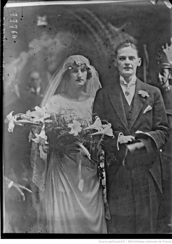 1922. Свадьба в Лондоне княгини Нины Георгиевны и князя Павла Александровича Чавчавадзе. 3 сентября