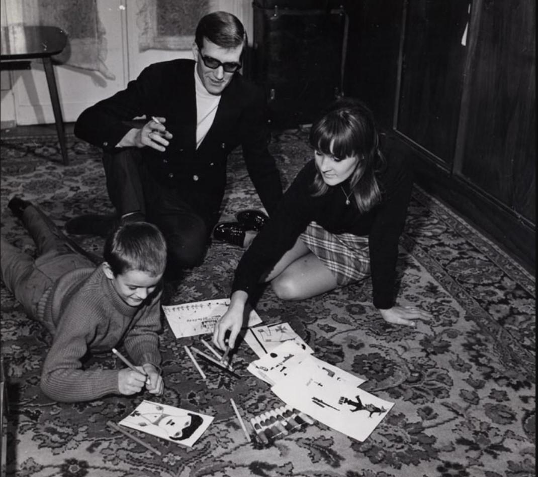 1975. Портрет Максима Шостаковича и его семьи