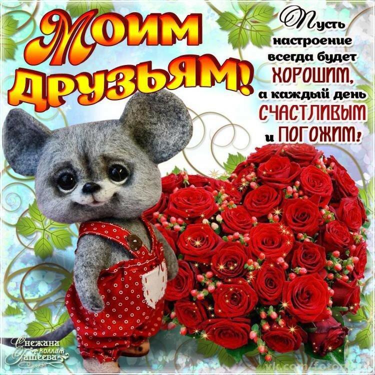 открытки с пожеланиями на каждый день друзьям сможет