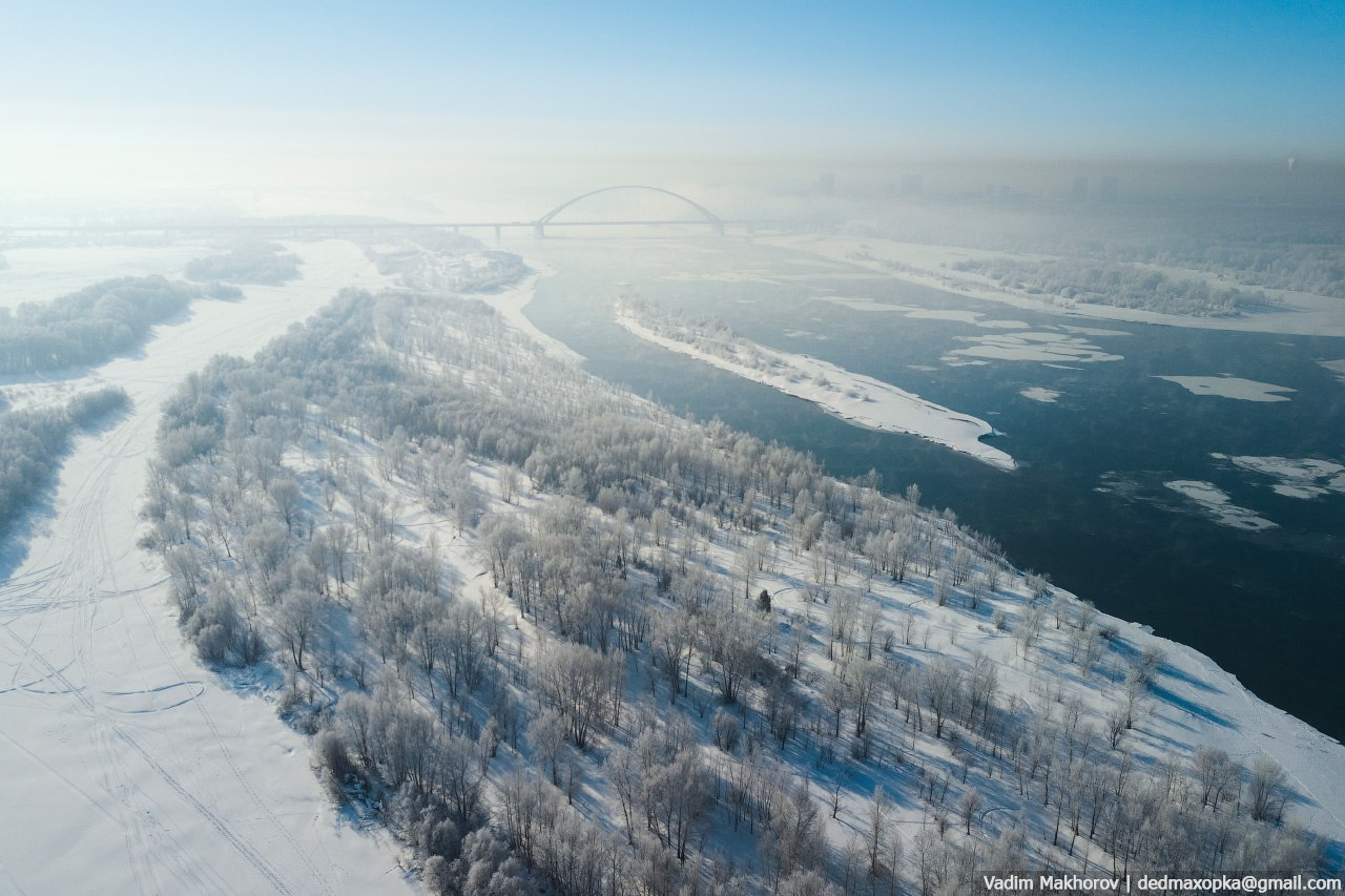 Все краски Новосибирска в таймлапсе от фотографа, который целый год снимал город с воздуха