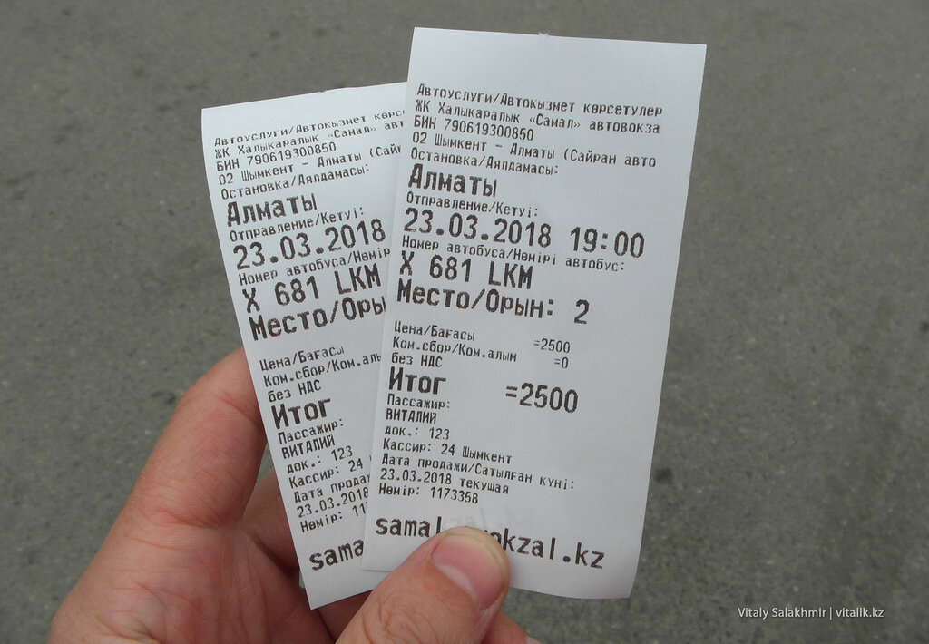 Шымкент - Алматы, билеты на автобус