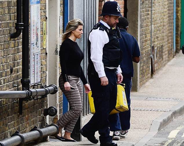 *EXCLUSIVE* MUST CALL FOR PRICING BEFORE USAGE -Catherine, Duchess of Cambridge ( Kate Middleton ) hairdresser/Aid Amanda Cook Tucker pictured exiting the Lindo Wing at 10am Today.