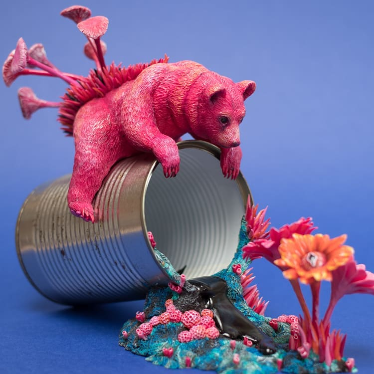 Discarded Objects are Beautified with Colorful Coral-Like Growths by Stephanie Kilgast