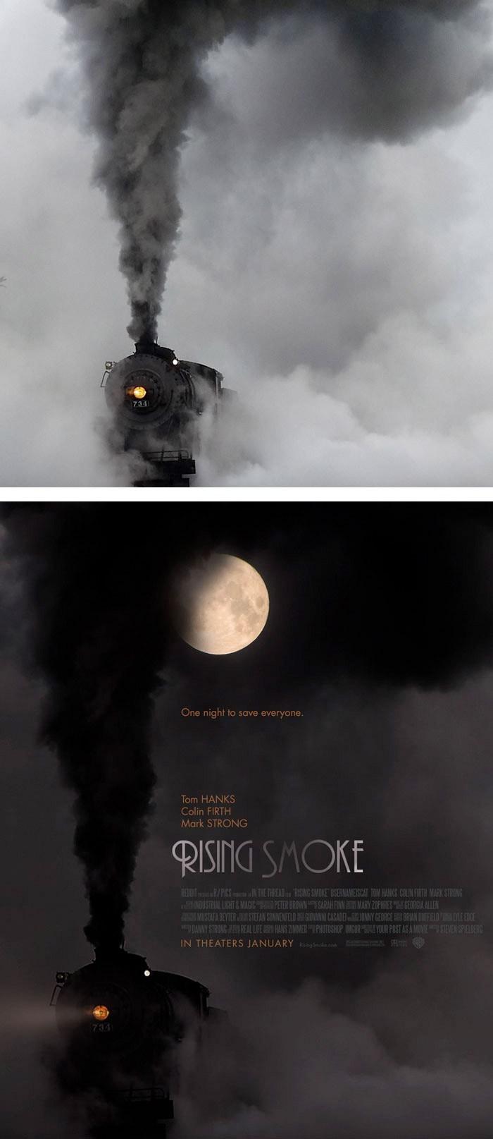 Artistas provam que qualquer imagem pode virar um cartaz de cinema incrivel