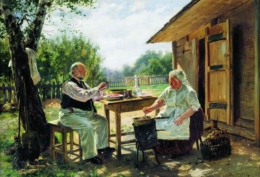Варят варенье. 1876 Государственная Третьяковская галерея, Москва.