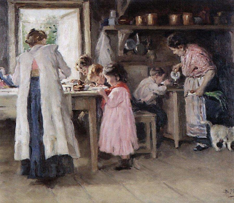 На кухне. 1913 Национальная галерея Армении, Ереван.