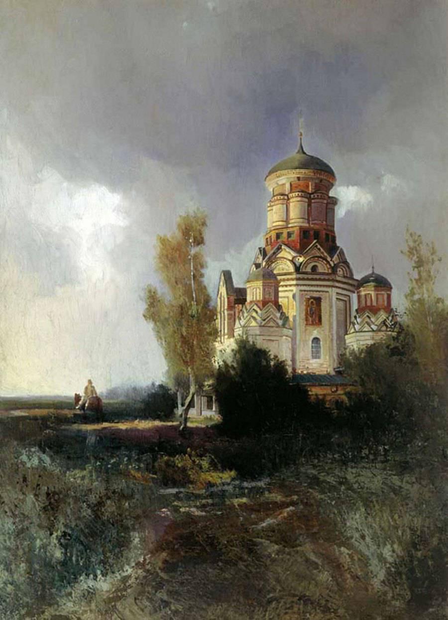 Церковь Иоанна Крестителя в селе Коломенское- Дьяково Государственная Третьяковская галерея, Москва.