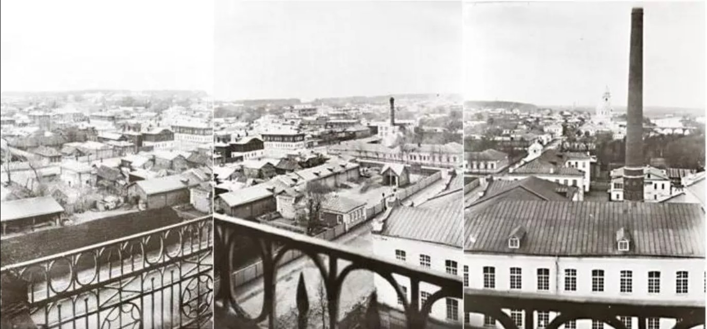 Панорама города с колокольни Тихвинской церкви