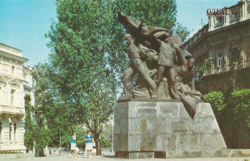 Одесса. Памятник восставшим морякам броненосца