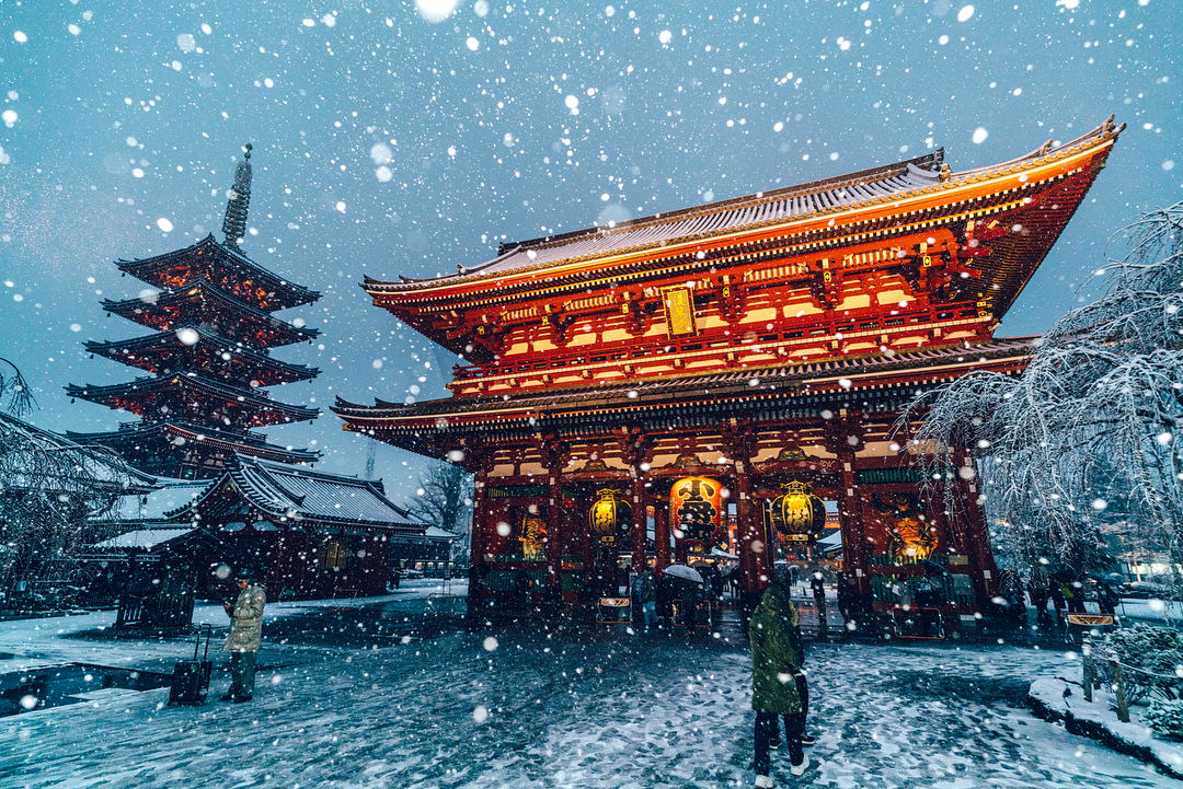 Magical Images of Tokyo Under the Snow (13 pics)