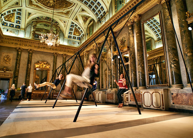 Swing Set Installation in Grand Milanese Palazzo (5 pics)