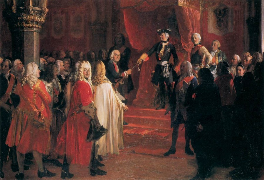 The Allegiance of the Silesian Diet before Frederick II in Breslau , 1855