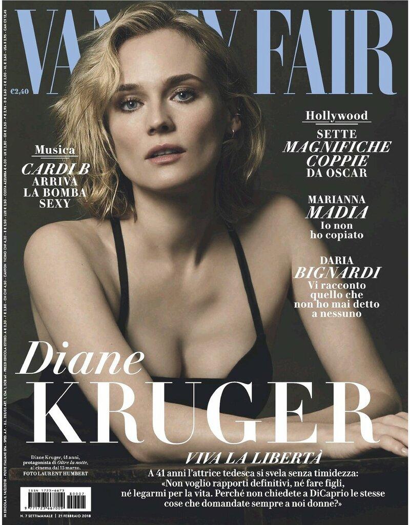 Фотосессия Diane Kruger (Vanity Fair Magazine Italy, февраль 2018)