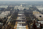 Вид сверху на Национальную аллею, где проходила церемония инаугурации 45-го президента США Дональда Трампа. Вашингтон, США, 20 января 2017 года. Фото: Lucas Jackson / Reuters