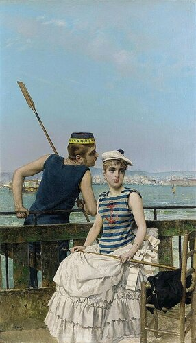 Vittorio Matteo Corcos - At the Regatta