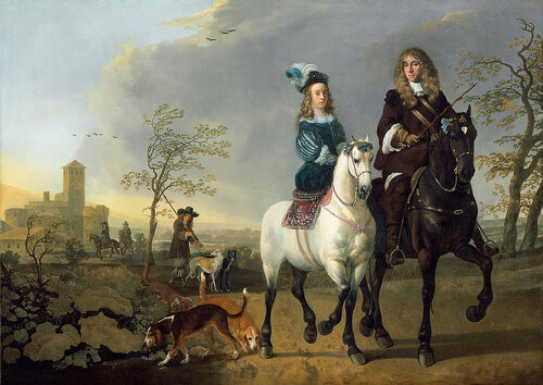 Aelbert Cuyp - Lady and Gentleman on Horseback