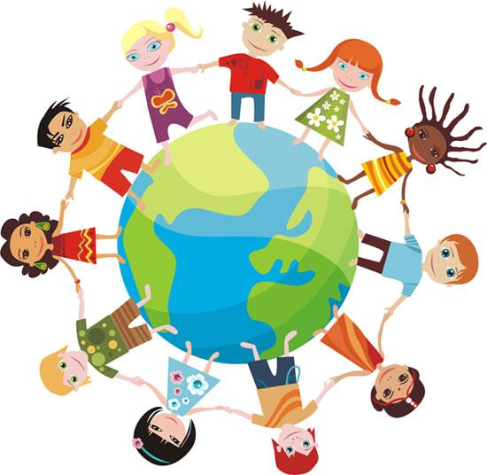 Открытки. Всемирный день ребенка. Дети земного шара