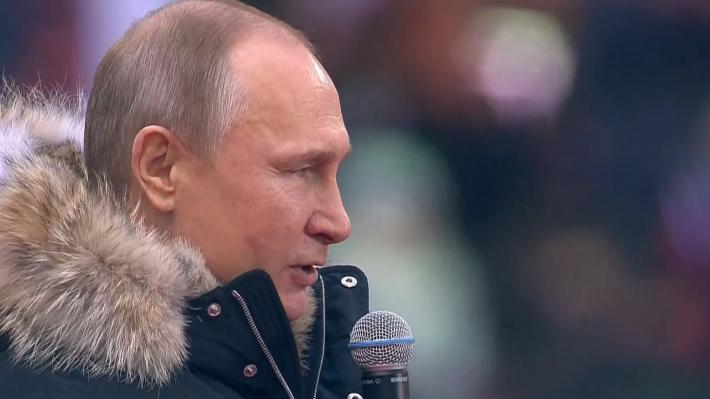 80-тысячный митинг вподдержку Путина