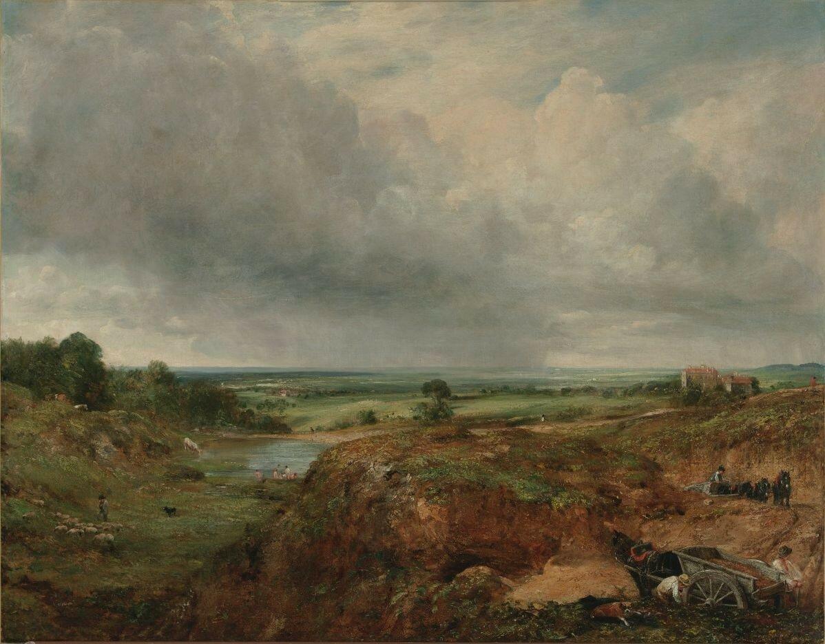 John Constable, English, 1776 - 1837 (Artist); Branch Hill Pond, Hampstead Heath; 1824-25