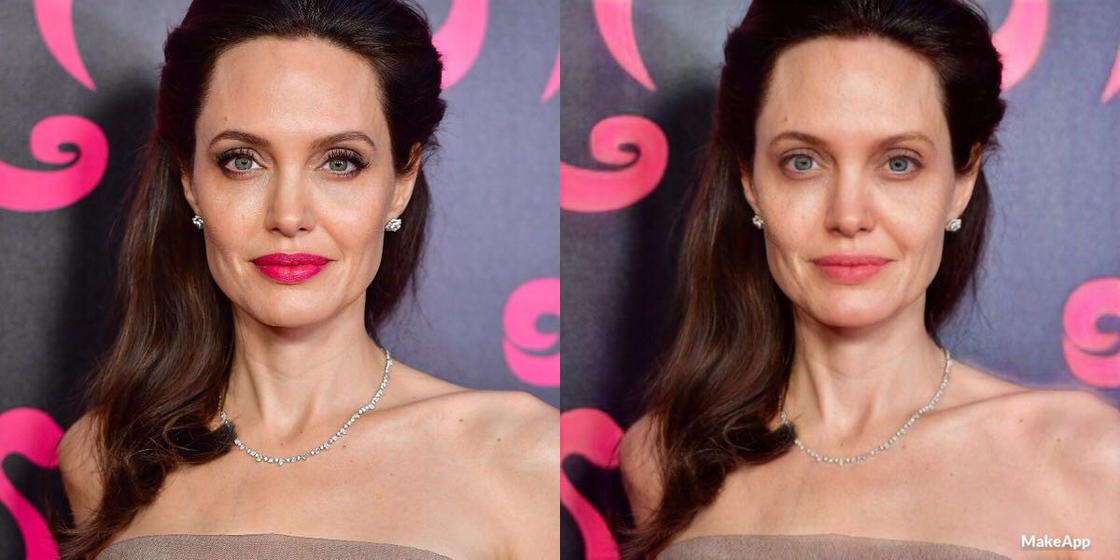 This app can remove makeup from celebrities (17 pics)