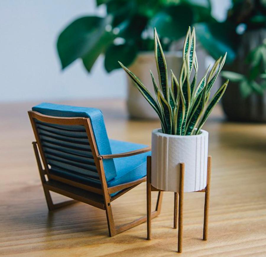 paper plant plants instagram sale Barcelona artist miniature