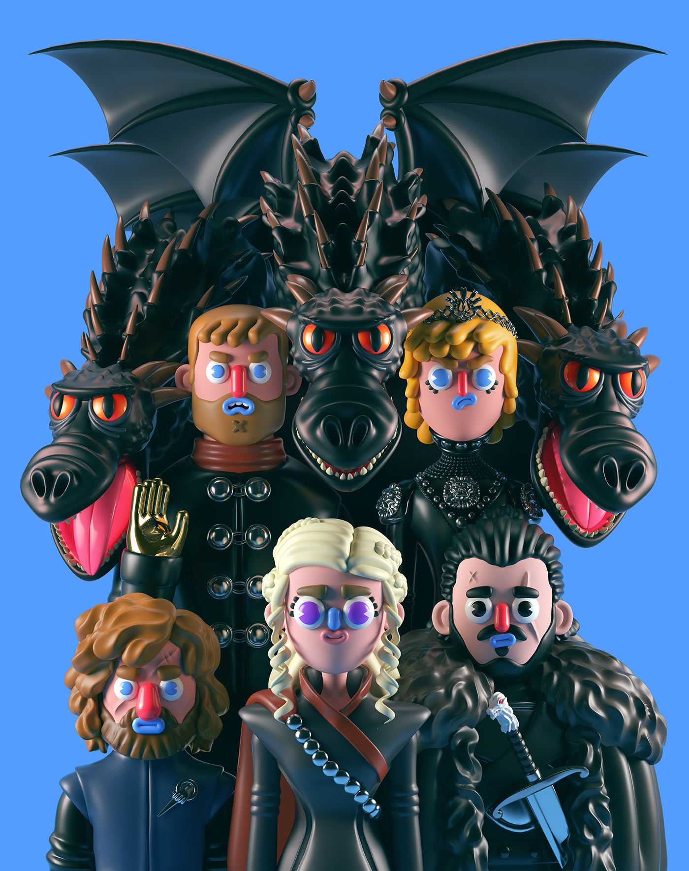 Funny 3D Game Of Thrones Characters (18 pics)