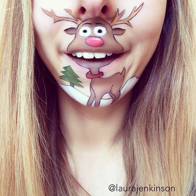 When a makeup artist transforms her mouth into cult cartoon characters – part II