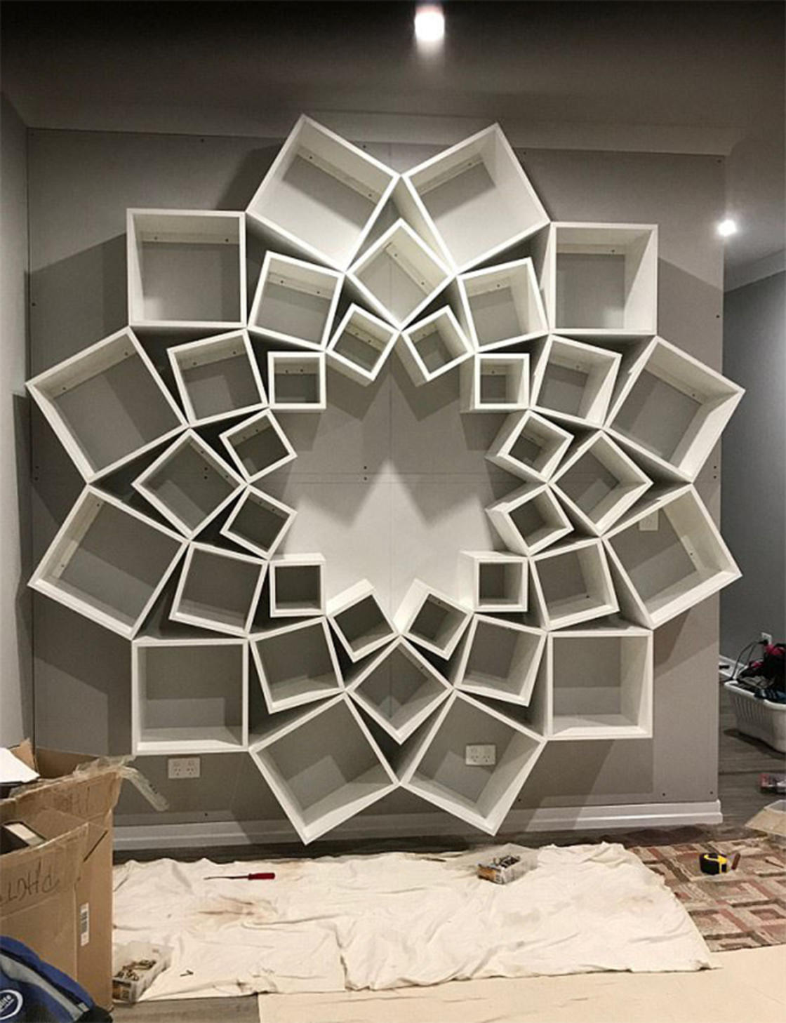 Flower Bookshelf This Couple Designed An Amazing DIY Project