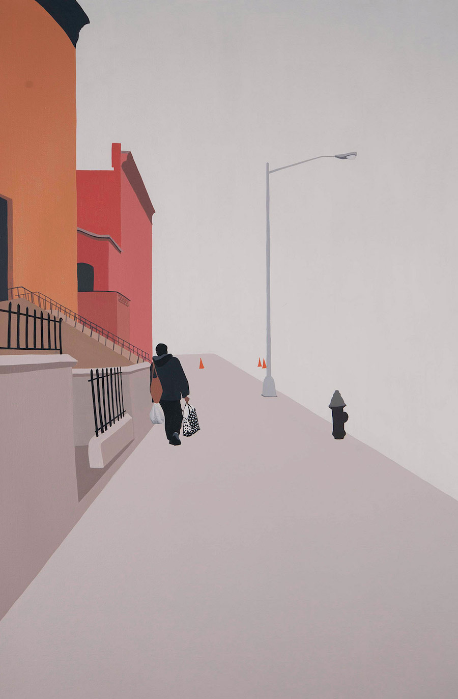 Mysterious City Life Paintings
