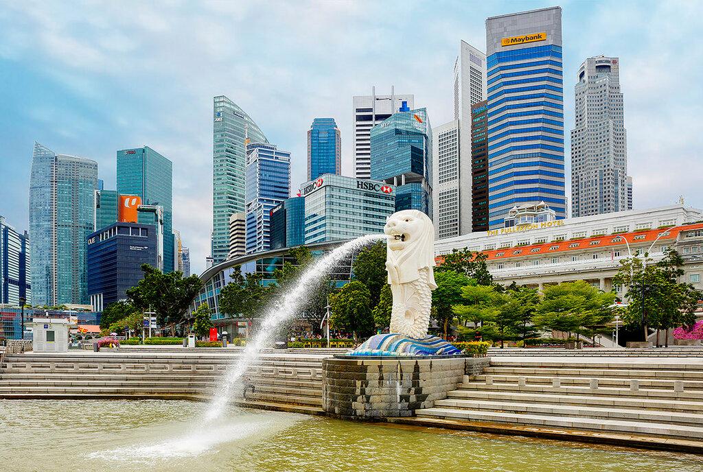 Сингапур. Набережная . Мерлион.