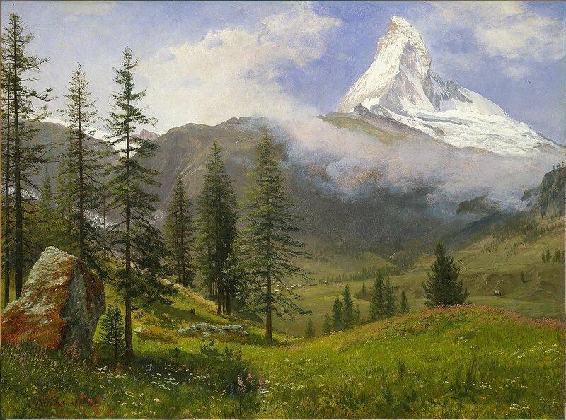 Картина Альберта Бирштадта «Маттерхорн» («The Matterhorn», 1867 год) Albert Bierstadt Matterhorn.jpg