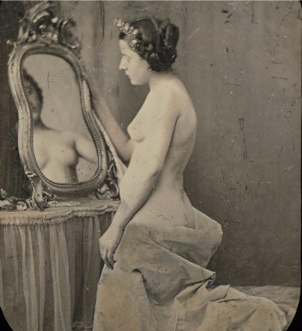 1855. Обнаженная с зеркалом