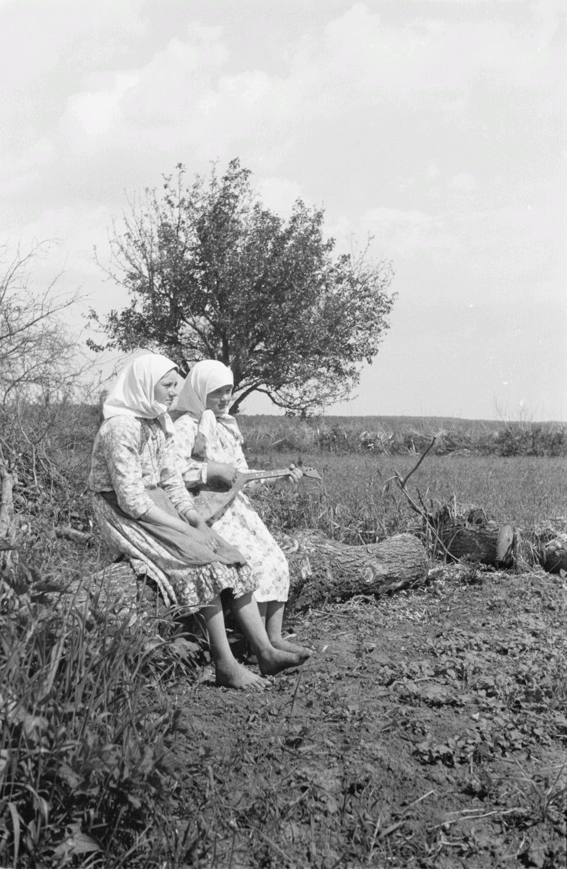 Девушки, играющие на балалайке