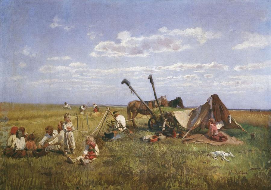 Отдых на жатве. 1871 Холст, масло. 69 x 97 см  Одесский художественный музей, Украина