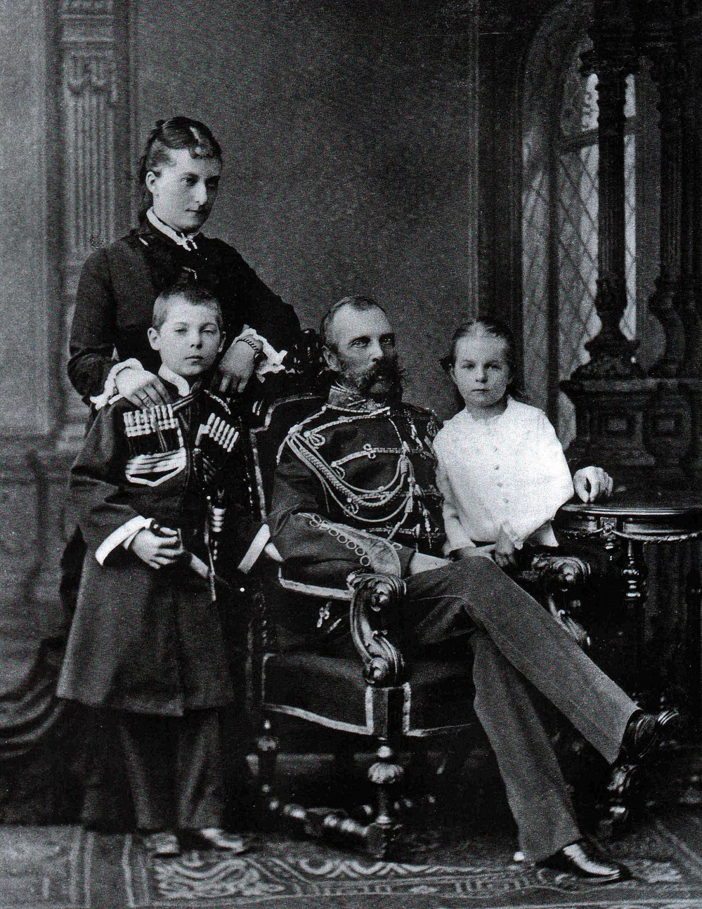 """Alexander II with his """"secret wife"""" Ekaterina and their children"""