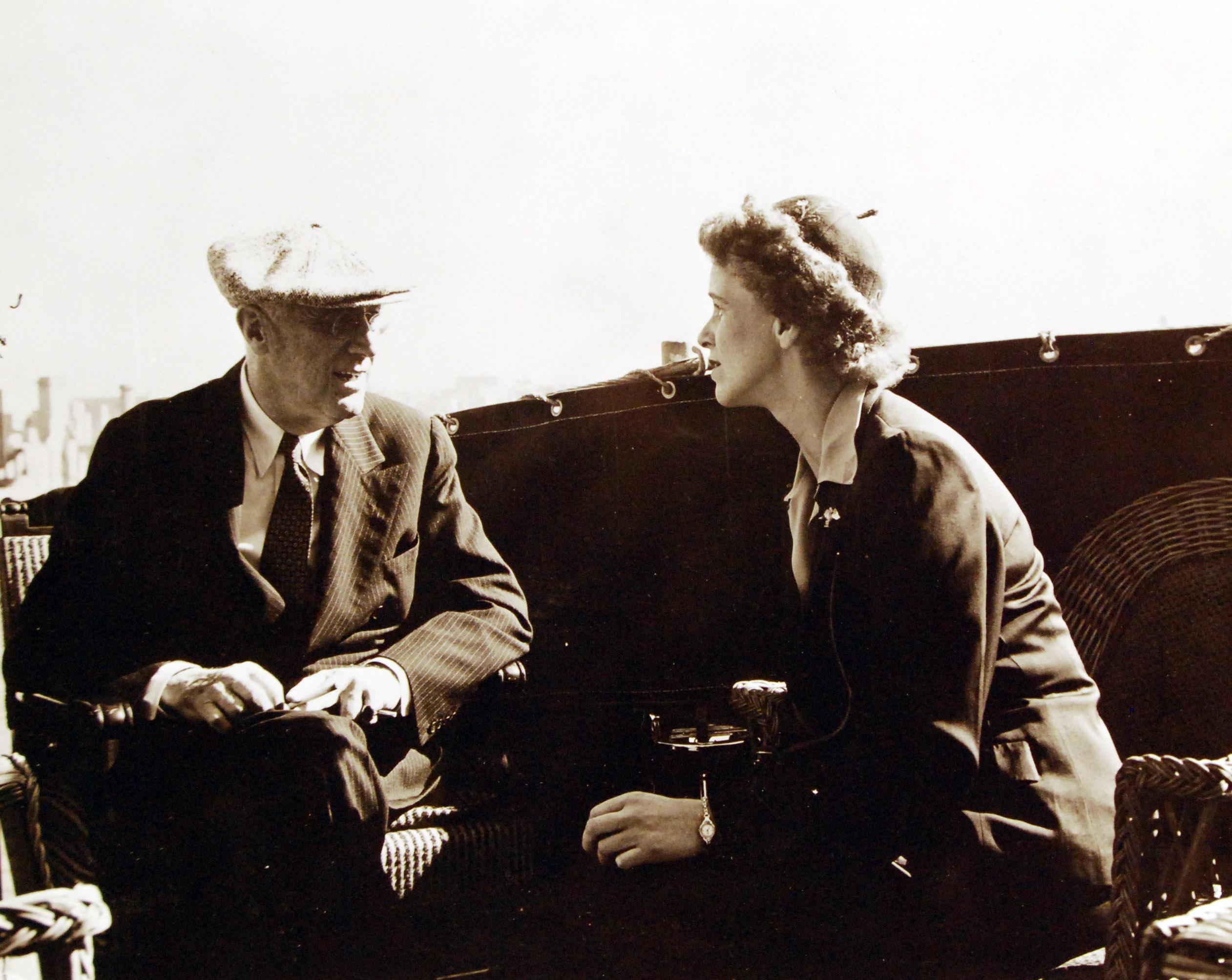Президент Франклин Рузвельт с дочерью, г-жой Энн Боттигер
