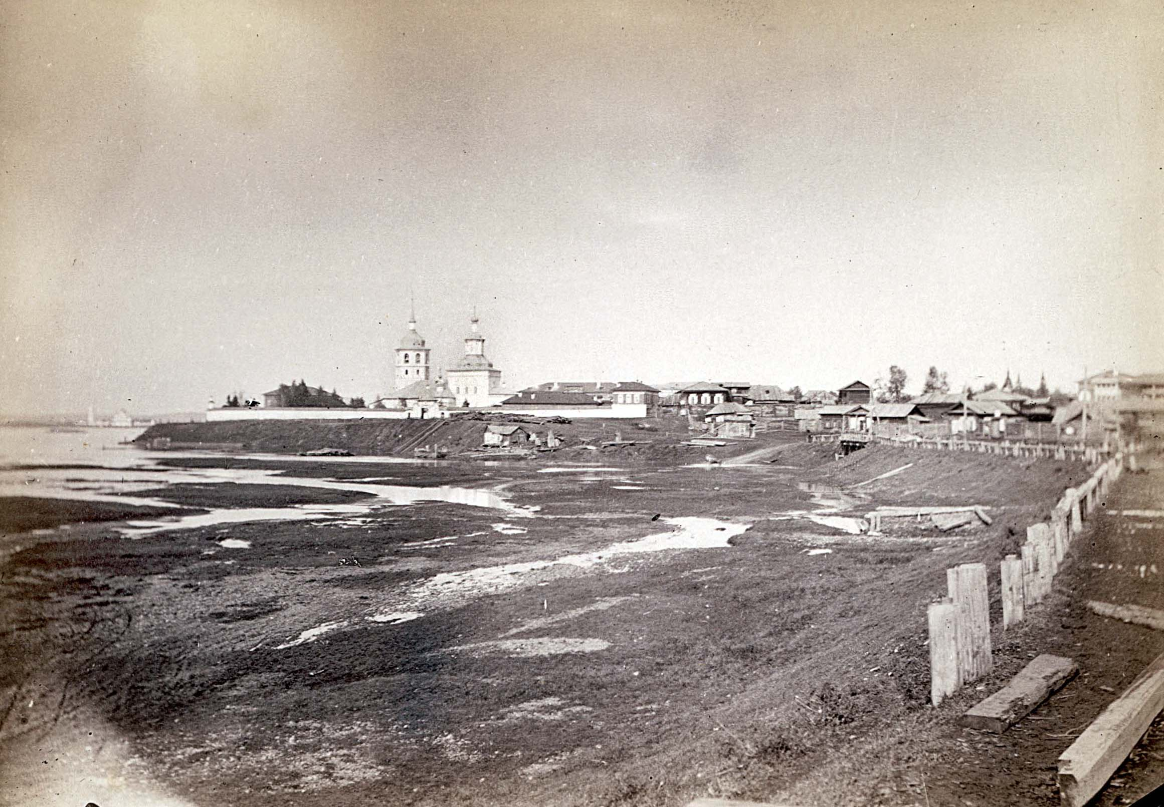 Знаменское предместье Иркутска. 1860.